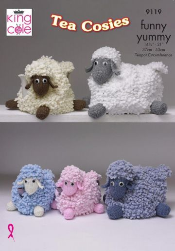 King Cole Sheep Tea cosies Knitting Pattern 9119